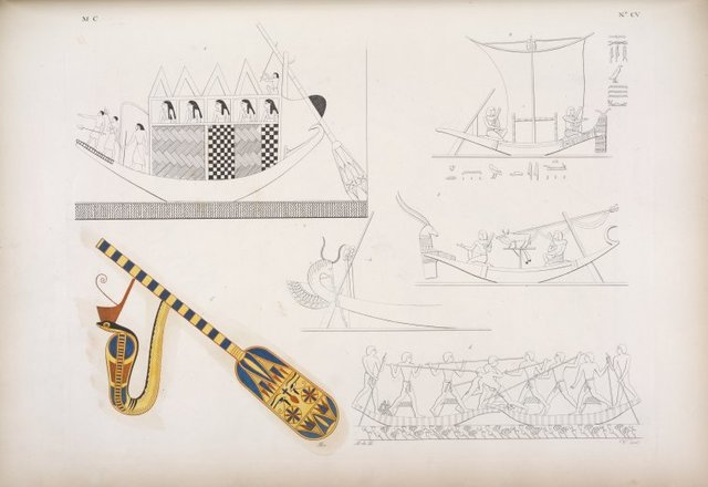 Navigazione: Barche di forme e ornamenti varj.