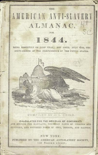 The American anti-slavery almanac, for 1844.  Being Bissextile or Leap-Year; and until July 4th, the sixty-eighth of the independence of the United States.
