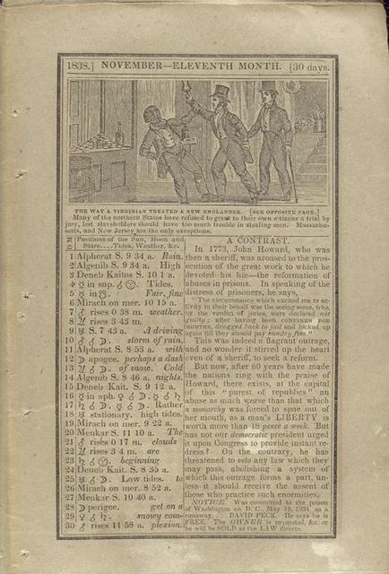 The way a Virginian treated a New Englander.