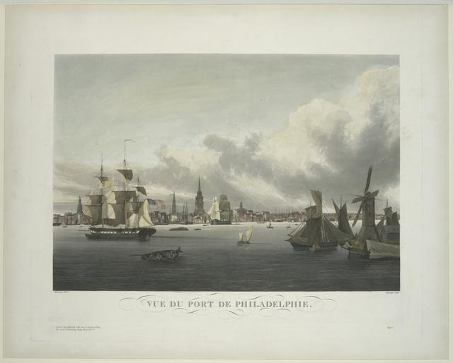 Vue du port de Philadelphie.