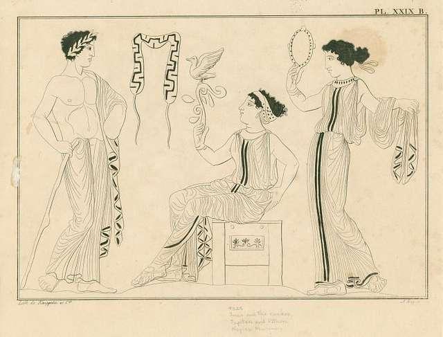 Apollo, Hera and the cuckoo, and Aphrodite
