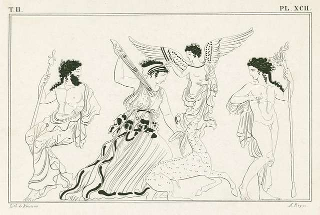Diana the huntress, with Jupiter, Apollo and Winged Victory