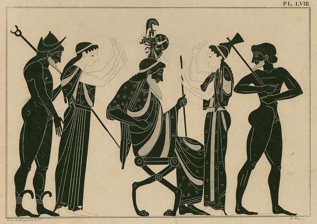 Zeus gives birth to Athena