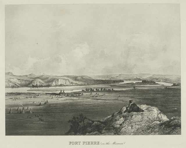 Fort Pierre (on the Missouri).