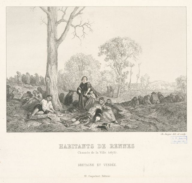 Habitants de Rennes chassés de la ville.