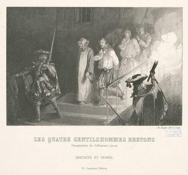 Les quatre gentilhommes bretons : conspiration de Cellamare.