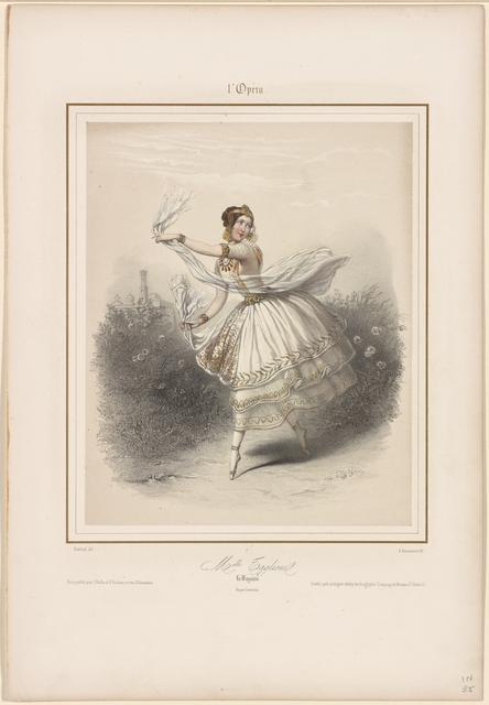L'Opéra. Melle Taglioni. La bayadère: Imp. par Lemercier