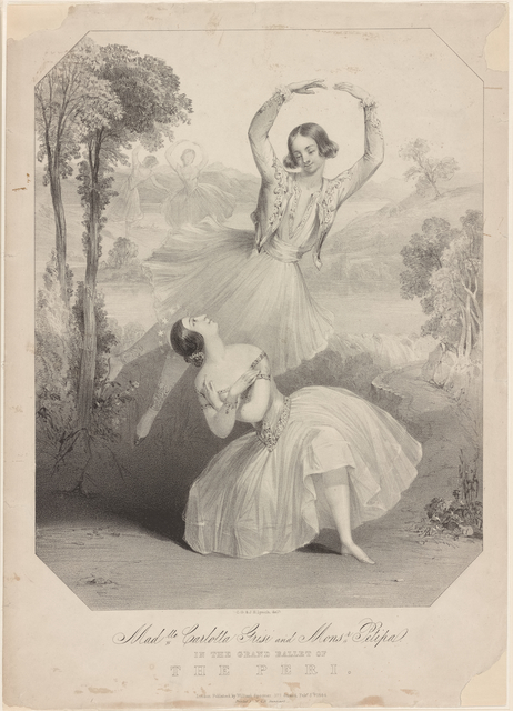 Madlle. Carlotta Grisi & Monsr. Petipa in the grand ballet of The peri. [Lithograph] C. G. & J. H. Lynch. Printed by M & N Hanhart.