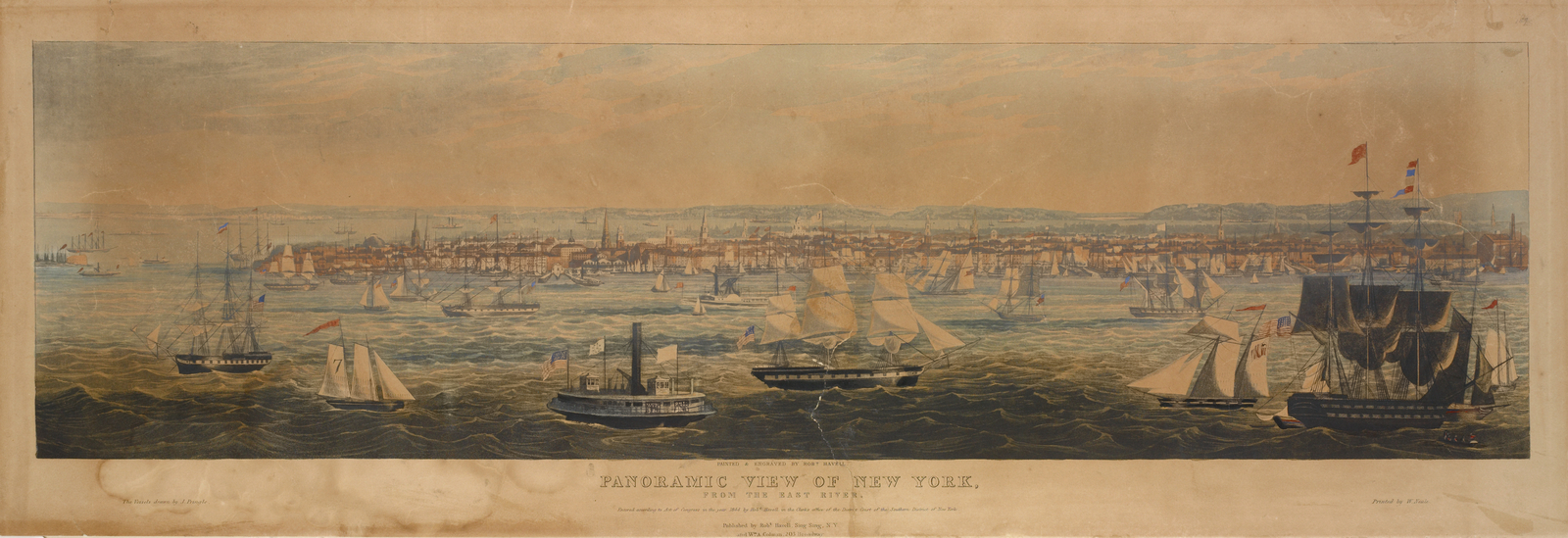 Panoramic view of New York, from the East River