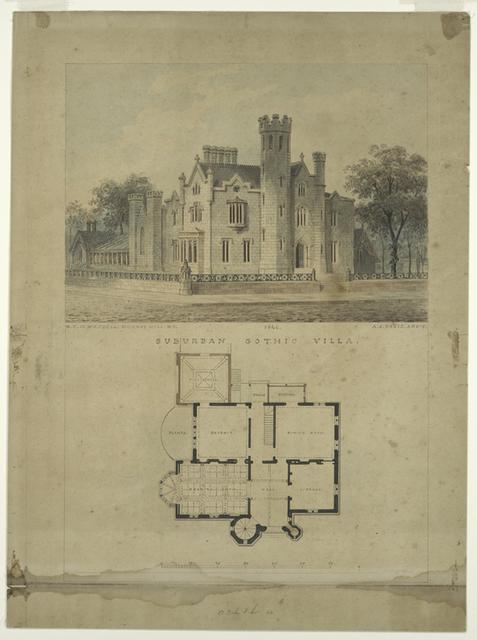 Suburan gothic villa.