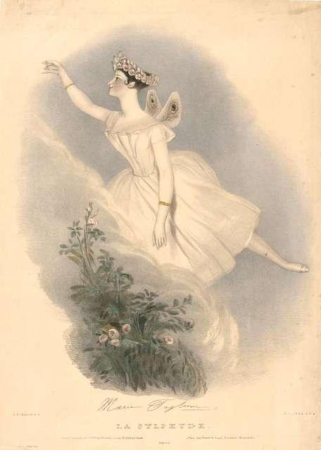 La sylphide: souvenir d'adieu de Marie Taglioni, par A. E. Chalon, R. A.  Artistes lithographes: R. J. Lane, A. R. A., Edward Morton, J. S. Templeton, J. H. Lynch, T. H. Maguire