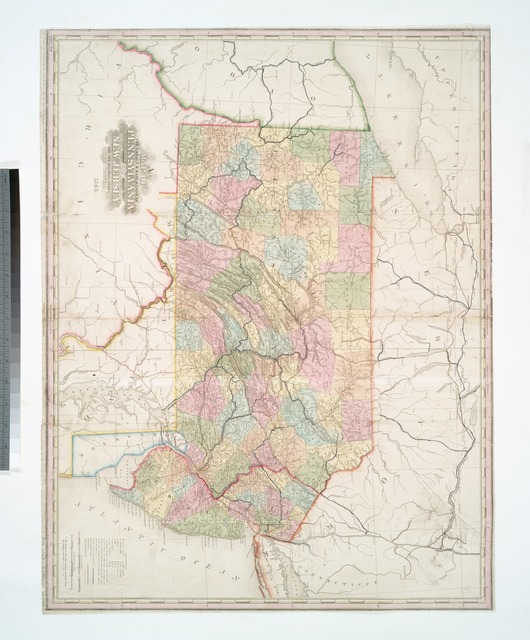 A map of the canals & rail roads of Pennsylvania and New Jersey, and the adjoining states