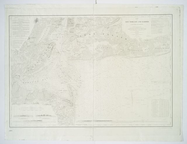 Map of New-York Bay and Harbor and the environs