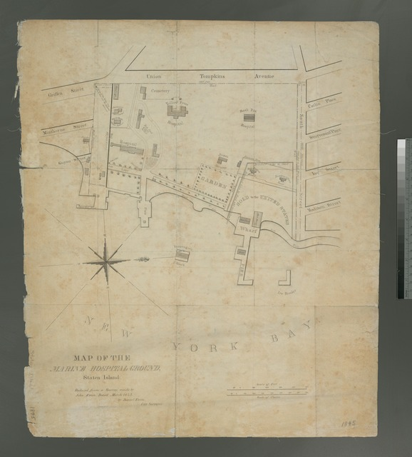 Map of the Marine Hospital ground, Staten Island