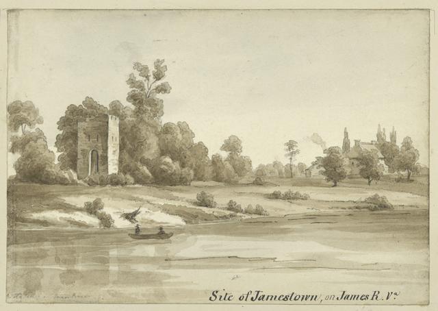 Site of Jamestown, on James R. Va.