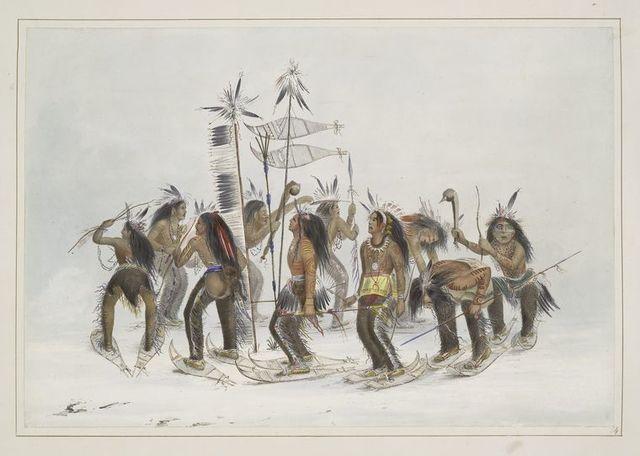 The Snow-shoe dance.