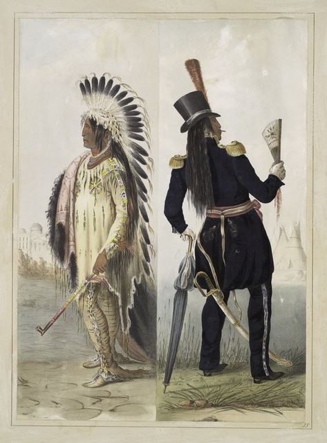 Wi-jun-jon, an Assinneboin Chief. Going to Washington; Returning to his home.
