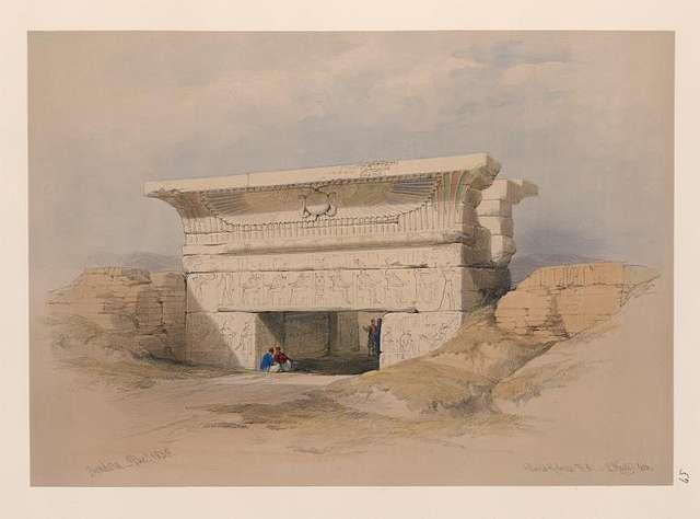 Dendera [Dandara]. Dec. 1838.