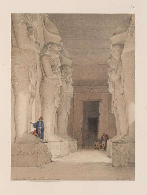 Excavated Temple of Gyrshe [Gerf Hussein], Nubia.