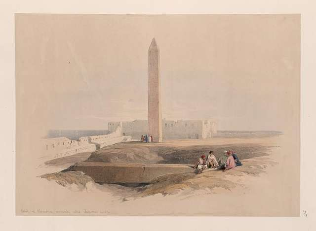 Obelisk at Alexandria, commonly called Cleopatra's needle.