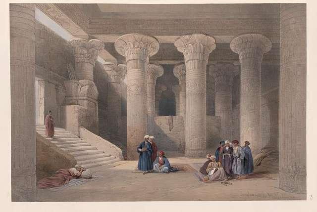 Temple at Esneh [Isnâ]. Nov. 25th, 1838.