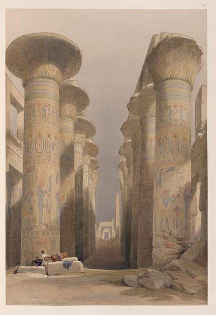 Thebes. Great Hall at Karnak. Nov. 28, 1838.