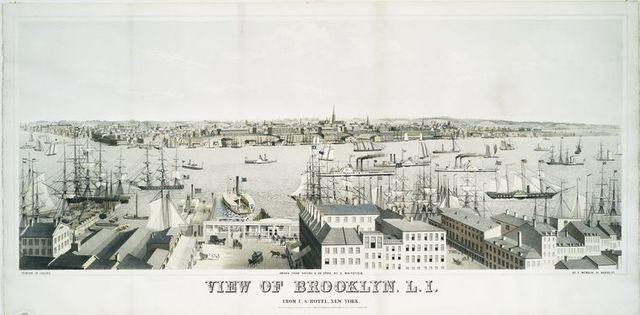 View of Brooklyn, L.I. From U.S. Hotel, New York.