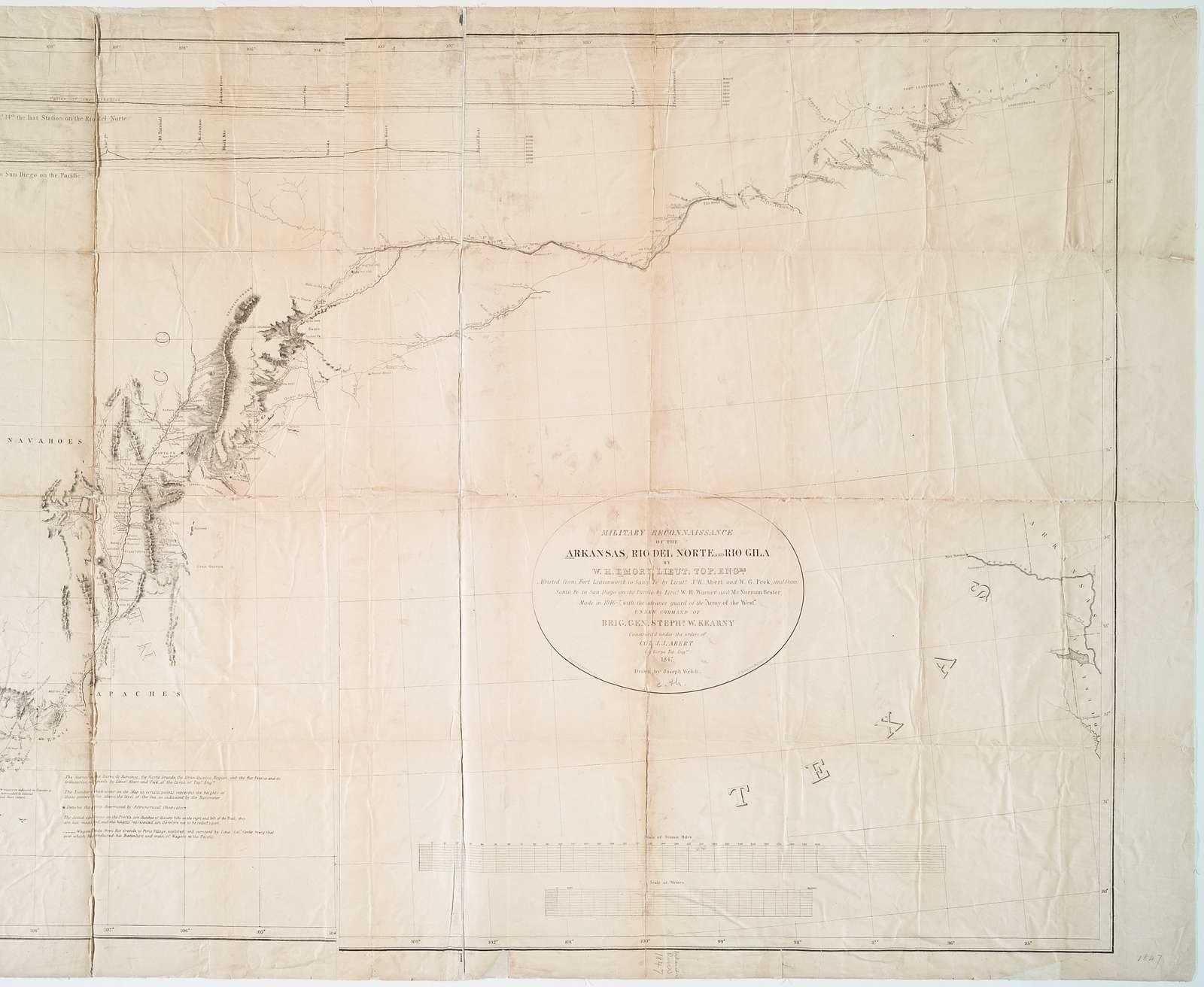 Military reconnaissance of the Arkansas, Rio del Norte and Rio Gila