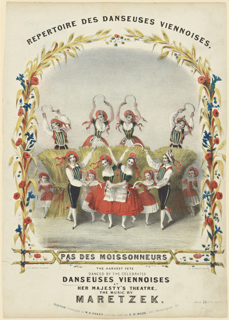 Pas des moissonneurs: the harvest fete danced by the celebrated Danseuses viennoises at Her Majesty's Theatre, the music by Maretzek