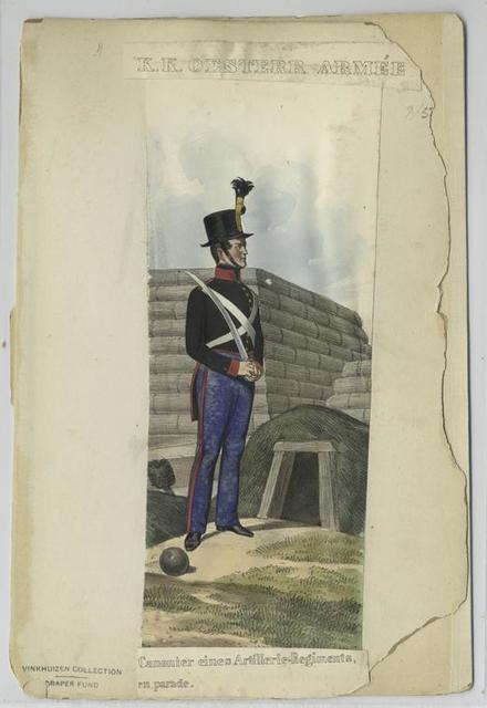 Canonier eines Artillerie-Regiments, en parade