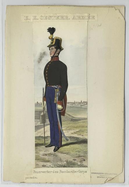 Feuerwerker des Bombardier Corps [en] parade