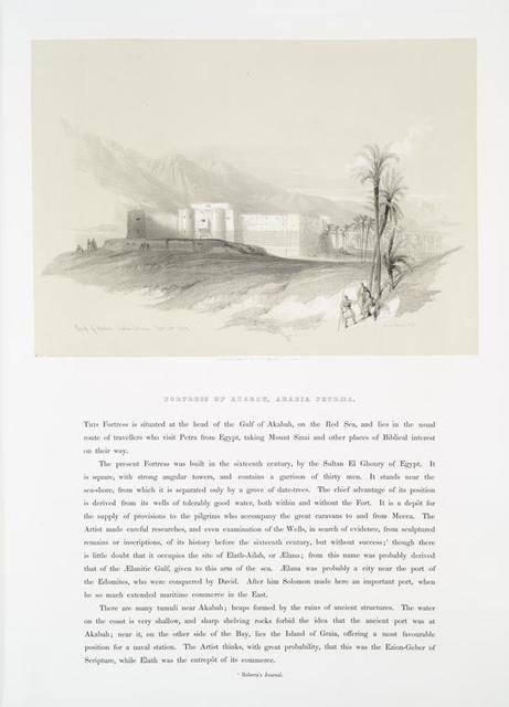 Fortress of Akabah, Arabia Petræa