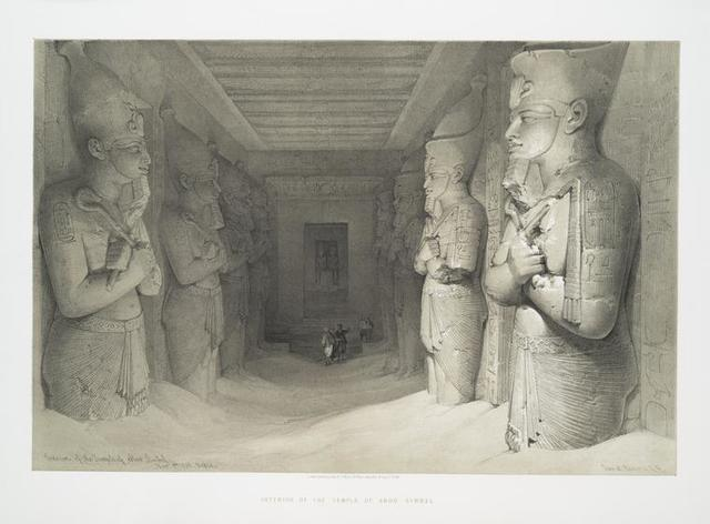 Interior of the temple of Aboo Simbel