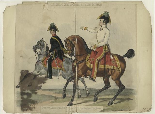 K.K. Oestere. Armée, General, und Flügel a djtantin deutscher Uniform