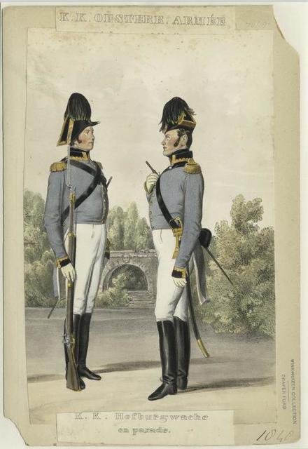K.K. Oestere. Armée, Hofburgwache en Parade