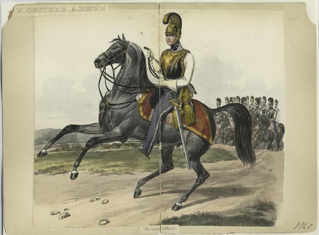 K.K. Oesterr. Armée, Cürassier Officier 1848