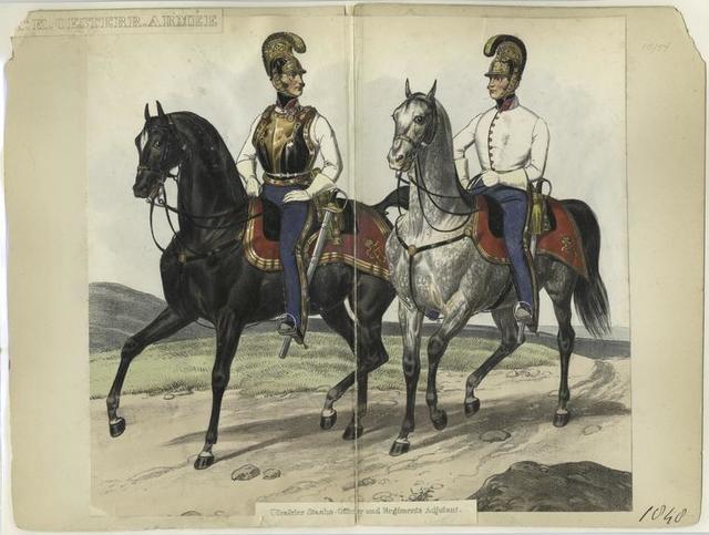 K.K. Oesterr. Armée, Cürassier Staabs-Officier und Regiments Adjutant 1848
