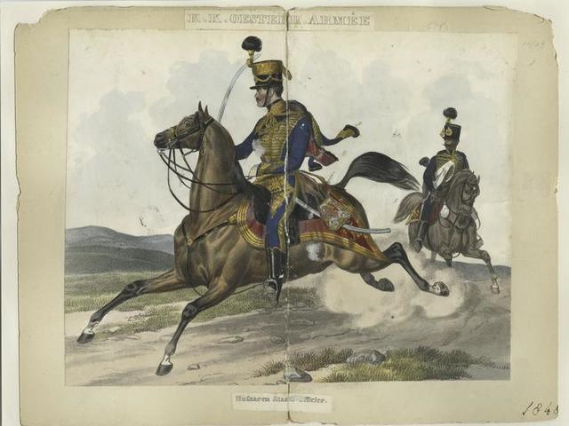 K.K. Oesterr. Armée, Hussaren Staabs-Officier