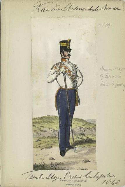 K.K Österreich Armée, Tambour Major Lin[ ] Infanterie 1848