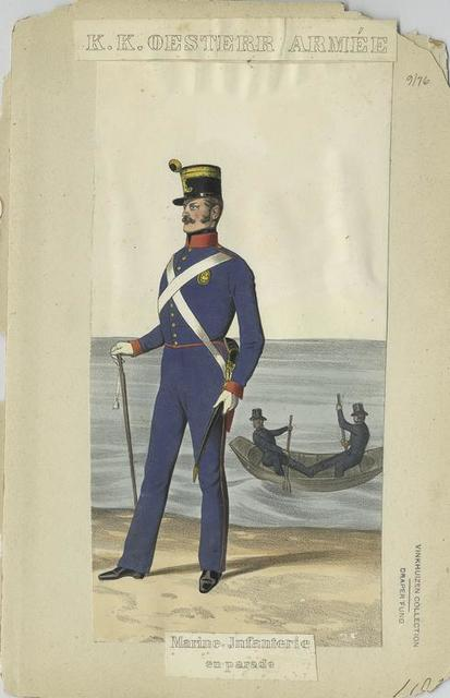 Marine Infanterie en parade