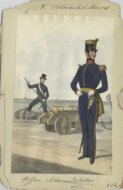 Officier marine Artillerie