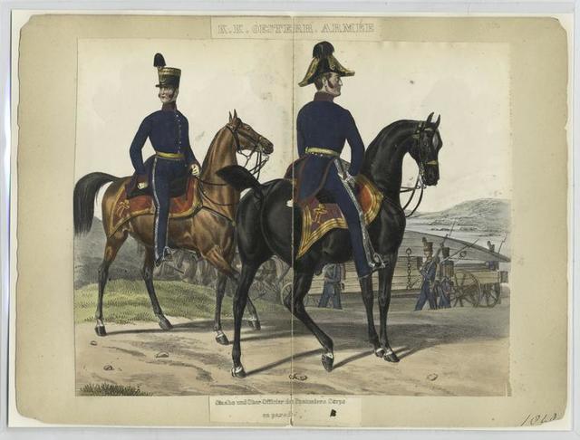 Staabs und Ober-Officier des Pontoniers Corps en parade