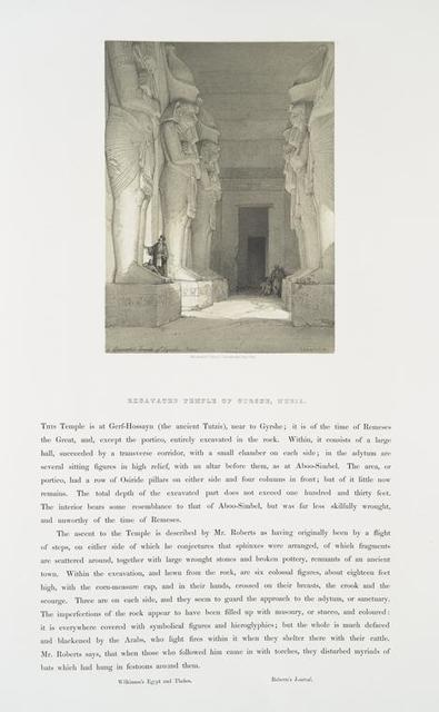 The excavated temple of Gyrshe, Nubia
