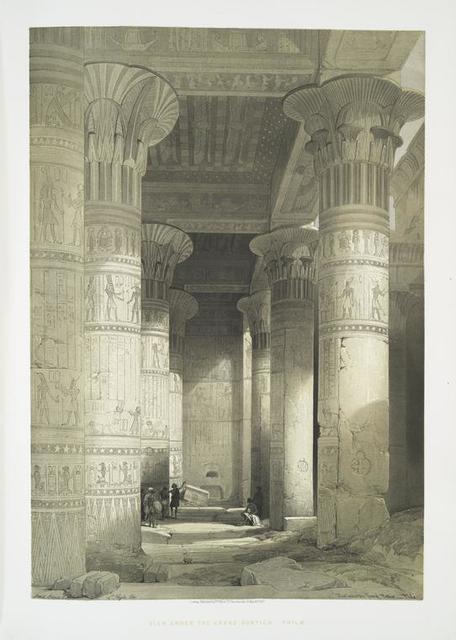 View under the grand portico. Philae