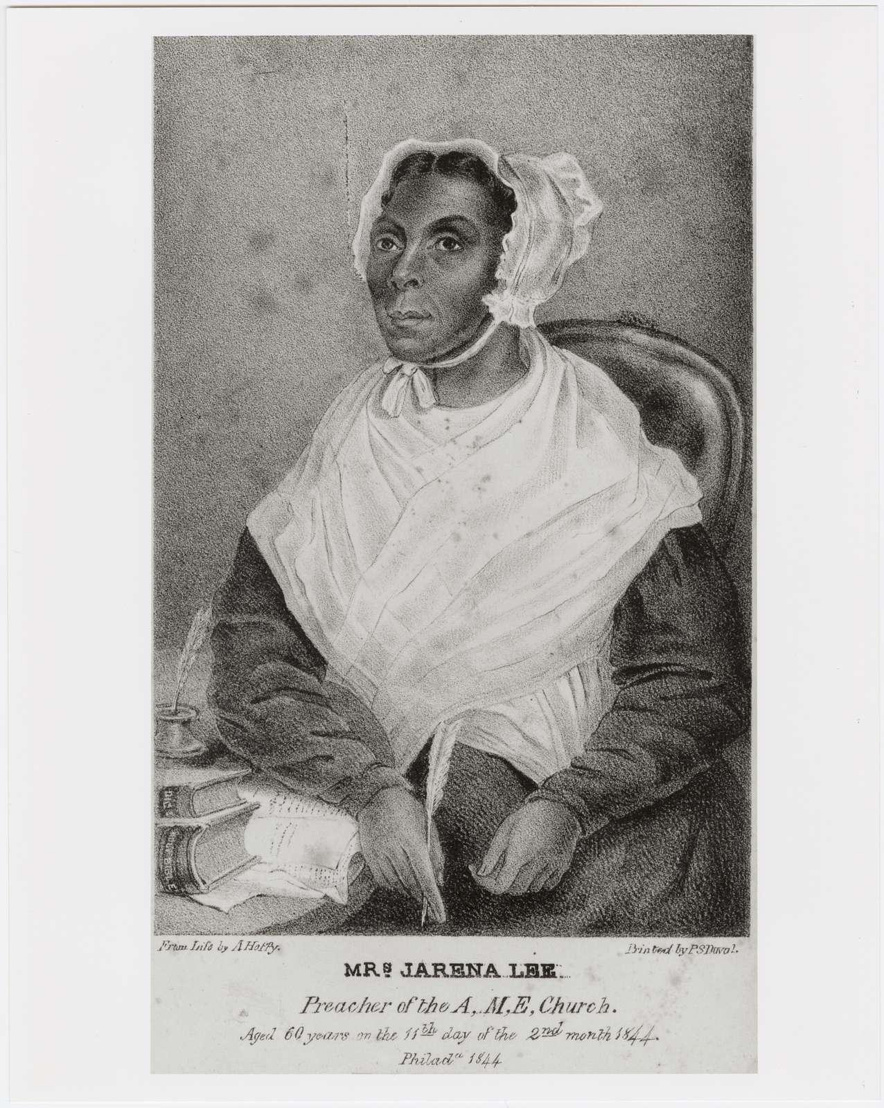 Mrs. Jarena Lee, African Methodist Episcopal Church evangelist.