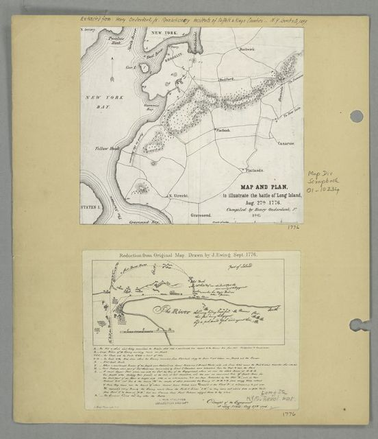 Map and plan to illustrate the battle of Long Island, Aug. 27th 1776