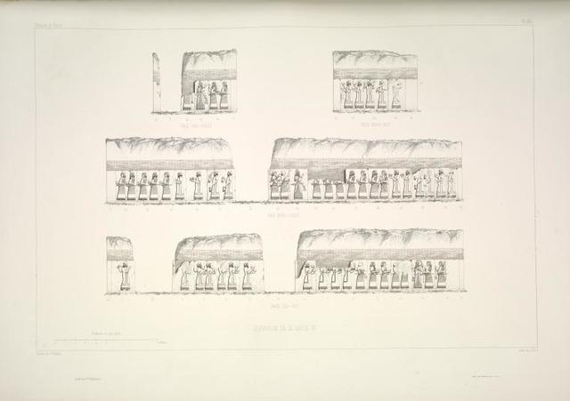Salle VI. Élévations des quatre faces.