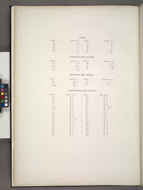 Table [des matières des volumes 3 et 4]