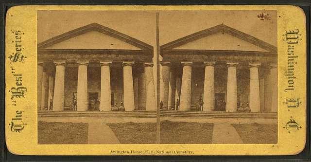 Arlington House, U.S. National cemetery.
