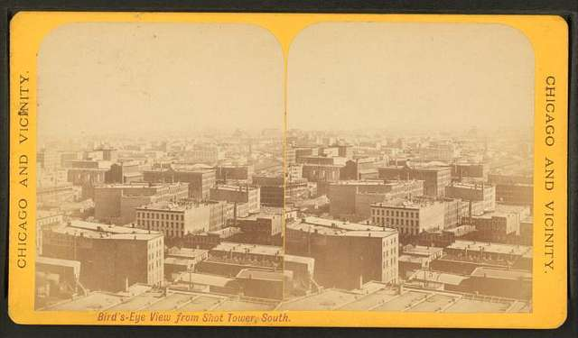 Bird's-eye view from Shot tower, south.
